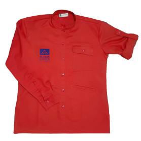 Chemise rouge nouveau logo - Chef.taine Pionniers/ Caravelles