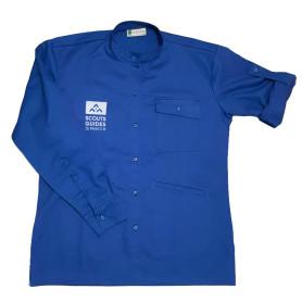 Chemise bleue nouveau logo - Chef.taine Scouts/ Guides