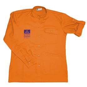 Chemise orange nouveau logo - Chef.taine Louveteaux/ Jeannettes