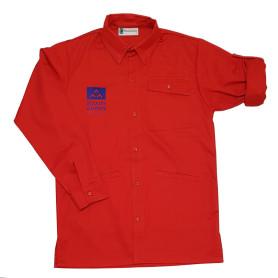 Chemise rouge nouveau logo - Pionniers/ Caravelles