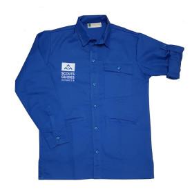Chemise bleue nouveau logo - Scouts/ Guides