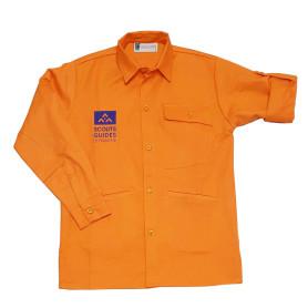 Chemise orange nouveau logo - Louveteaux/ Jeannettes