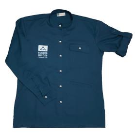 Chemise bleu canard nouveau logo - Vent du Large