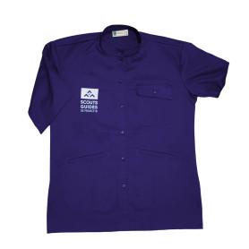 Chemisette violette nouveau logo - Responsables, coupe homme