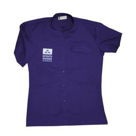 Chemisette violette nouveau logo - Responsables, coupe femme