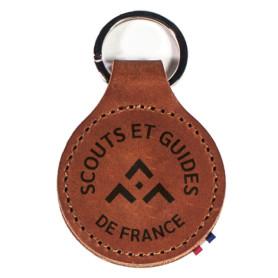 Porte-clés en cuir SGDF (nouveau modèle)