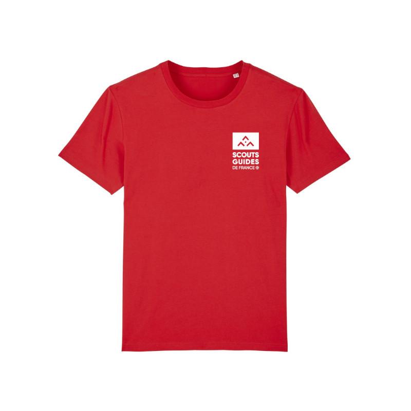T-shirt jeune Pionniers Caravelles (nouveau modèle) - rouge