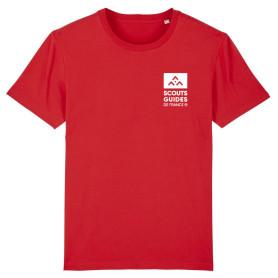 T-shirt Pionniers Caravelles (nouveau modèle) - rouge