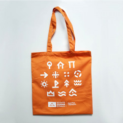 Tote bag Louveteaux - Jeannettes - orange