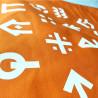 Tote bag Louveteaux - Jeannettes - orange