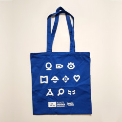 Tote bag Scouts - Guides -bleu