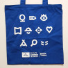 Tote bag Scouts - Guides -bleu