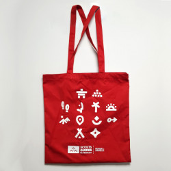 Tote bag Pionniers - Caravelles - rouge