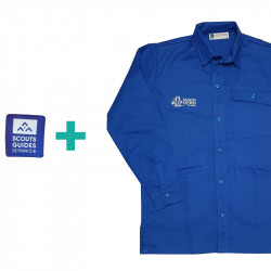 Chemise bleue Scouts/ Guides en coton bio + patch