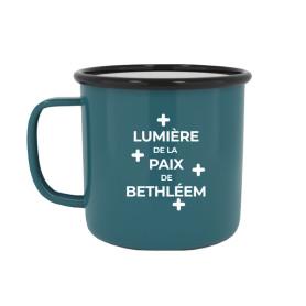"""Tasse émaillée """"Lumière de la Paix de Bethléem"""""""