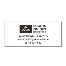 Tampon rectangulaire 3 lignes avec logo SGDF