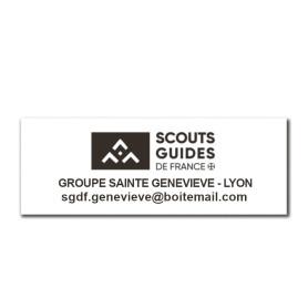 Tampon rectangulaire 2 lignes avec logo SGDF