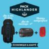 """Pack """"Highlander"""" : Sac de couchage -2°C + Sac à dos 66L + Matelas"""