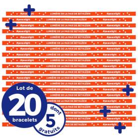 """Bracelet """"Peacelight""""-Lot de 20"""