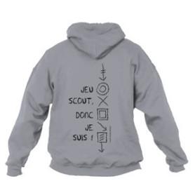 Sweat - shirt « Jeu scout, donc je suis ! » Taille S