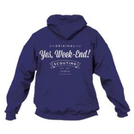 Sweat - shirt « Yes, week-end ! » Bleu marine Taille L