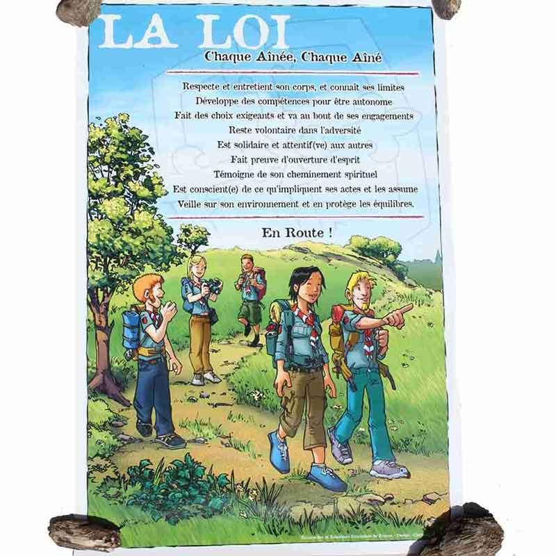 Affiche loi BA sur bâche