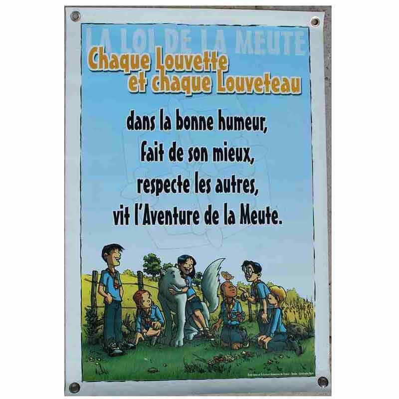 Affiche loi BC sur bâche