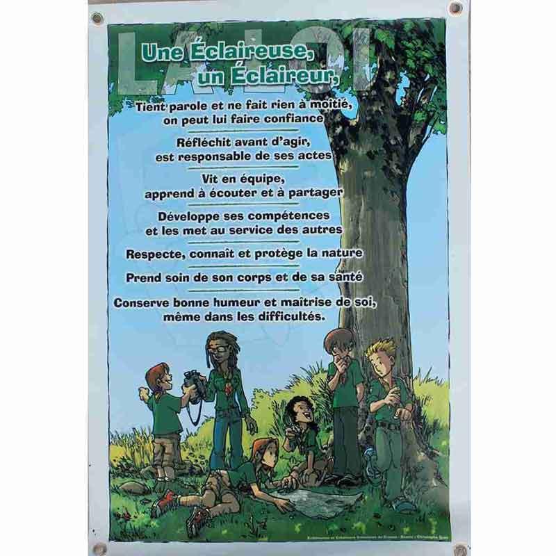 Affiche loi BM sur bâche