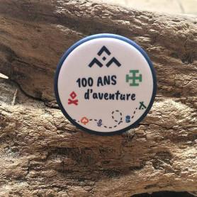 Badge métallique Centenaire 32 mm