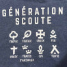 """Sweat à capuche Enfant """"Génération Scoute"""" - bleu jean"""