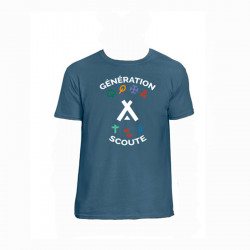 """T-Shirt enfant """"Génération Scoute"""" - bleu jean"""