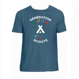 """T-Shirt """"Génération Scoute"""" - bleu jean"""