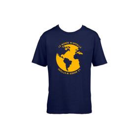 """T-Shirt enfant """"Le monde m'appelle"""" - bleu marine"""