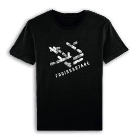 """T-Shirt """"Froissartage"""" - noir"""
