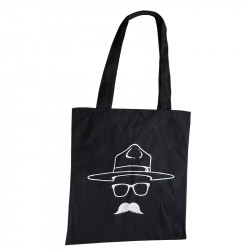 "Tote bag "" BP is a Hipster"" noir"