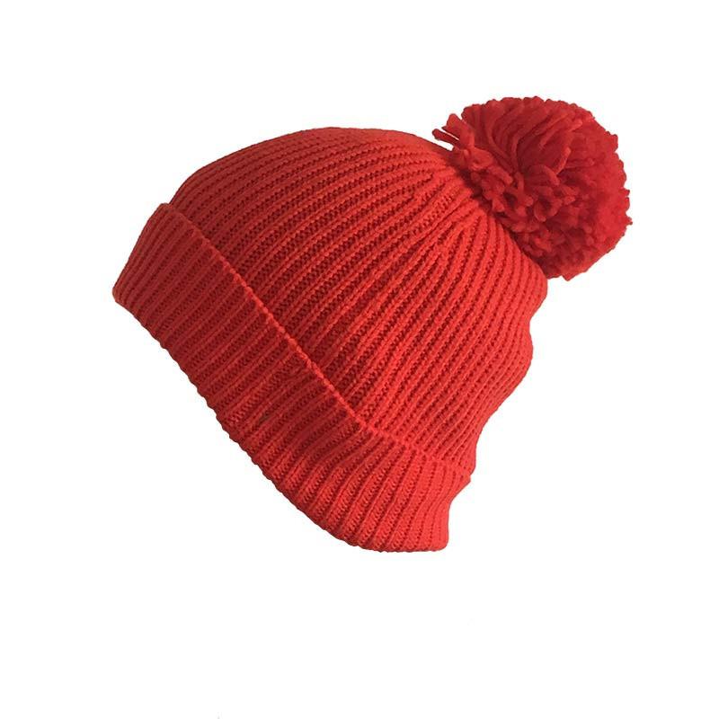 Bonnet rouge avec pompom