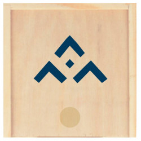 Jeu de morpion en bois avec symbole SGDF