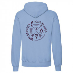 "Sweat à capuche ""Pictos scouts""- bleu ciel adulte"