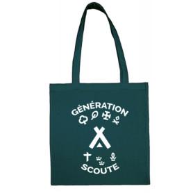 """Tote bag """"Génération Scoute"""" - Pétrol impression blanche"""