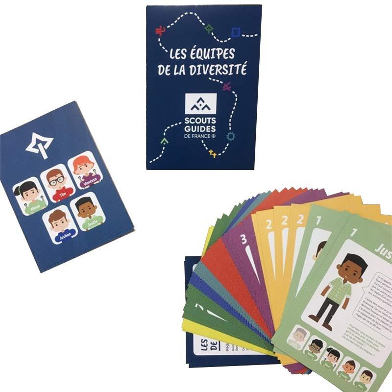 Jeu de cartes : les équipes de la diversité