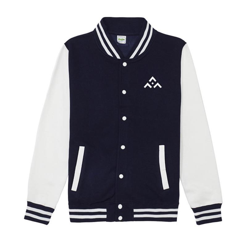 "Blouson ""Oxford "" Bleu marine et blanc avec logo SGDF"