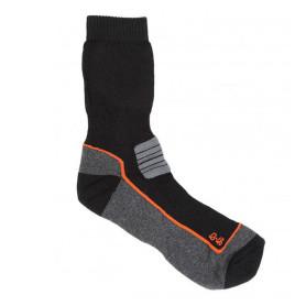 Mi-chaussette de randonnée noire et grise