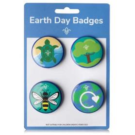Lot de 4 badges Earth Day