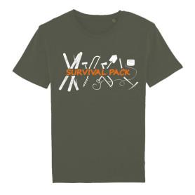 Tee-shirt « Survival » kaki
