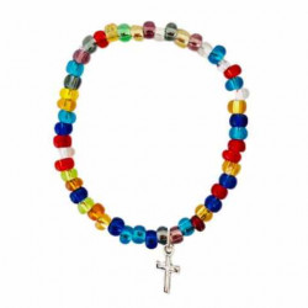 Bracelet élastique en verre de Murano