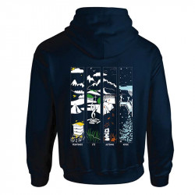 Sweat-shirt « 4 saisons » bleu marine