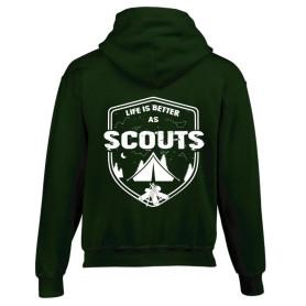 Sweat-shirt « Life is better as scouts » vert foncé