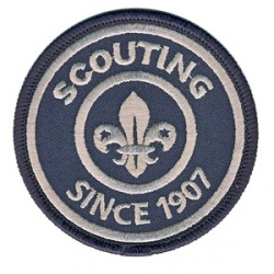 "Insigne brodé ""Scouting since 1907"""