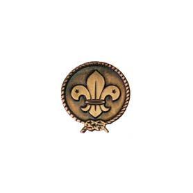 Boutonnière en cuivre du scoutisme mondial
