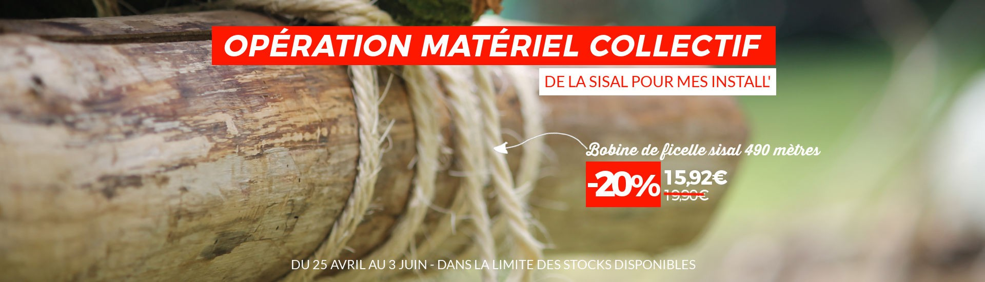 Ficelle 100% naturelle et biodégradable en promo !